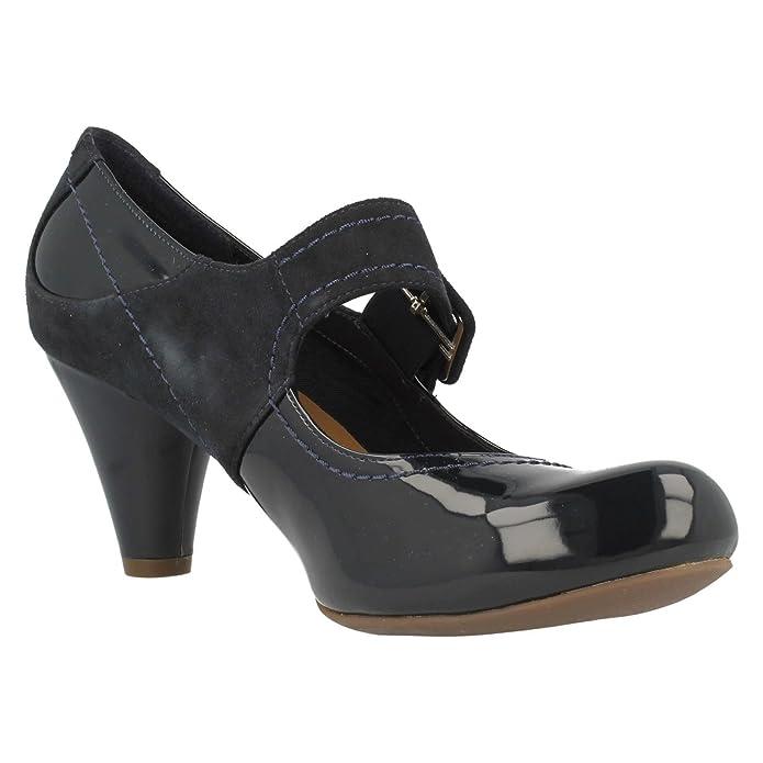 349a89955ff4 Ladies Clarks Smart Mary Jane Shoes Coolest Berry Navy Combi Size 6D   Amazon.co.uk  Shoes   Bags