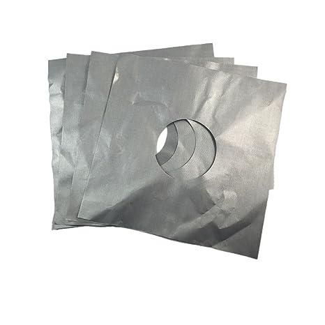 4PCS reutilizable de plata de gas de encimera de gas protector de línea superior de la