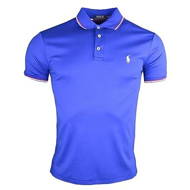 6e4aad6c61cc73 Ralph Lauren Polo Bleu France en Jersey Custom fit pour Homme  Amazon.fr  Vêtements  et accessoires