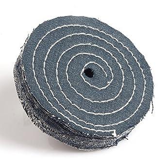 4 Inch White Cloth Buffing Wheel Disc For Fine Metal Polishing Arbor 12mm 2Pcs