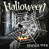 AUHOO Giant Spider Web Decorations, Large Spider Toy with Super Stretch Cobweb Set for Indoor Outdoor Yard Halloween Decorations