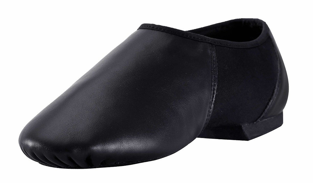 Women's Leather Jazz Shoe Slip On Black 7.5 M US