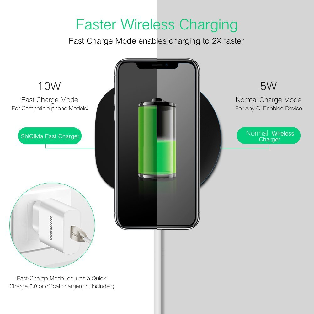 Fast Wireless Chargershiqima Qi Charger Pad Mobile Circuit Diagram For Iphone X 8 Samsung Galaxy S8 Note8 S7 S7edge S6 Nexus 4 5 6 Nokia Lumia
