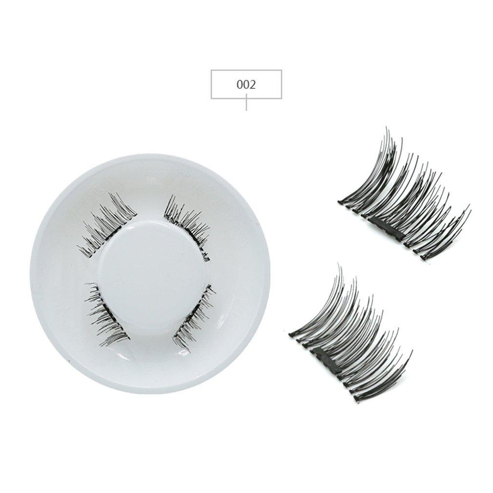 Amazon.com : 4Pcs Eyelash Mink Material Eyelashes Soft Silk Fashion False Kit 3D Mink Cilia Magnetic-Lashes 052 : Beauty