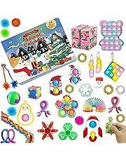 Run Fidget Advent Calendar 2021 Christmas 24 Days Countdown Calendar, Cheap Fidget Toy for Christmas Kids Gift for Xmas Party Favor