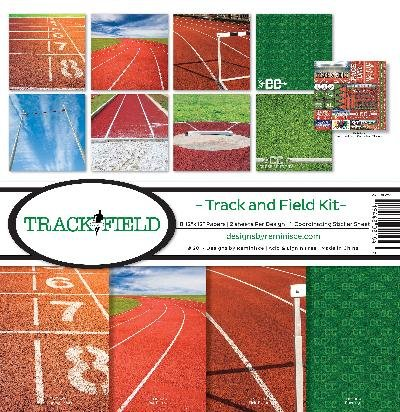 Reminisce Track and Field Collection Scrapbook (Sports Scrapbook Kit)