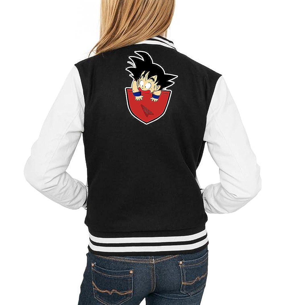 Certified Freak Pocket Goku College Vest Girls Black