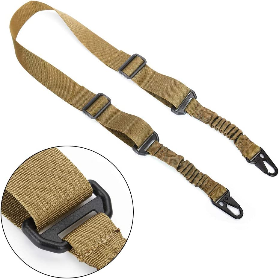 Accmor 2 Point Sling Tow Point and Traditional Strap with Metal Hooks for Outdoor