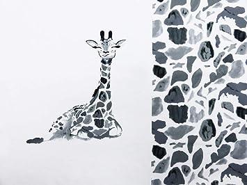 80527bef432 S&W - Stoff - Jersey Panel Giraffe grau - Panel - 1 Stück: Amazon.de ...