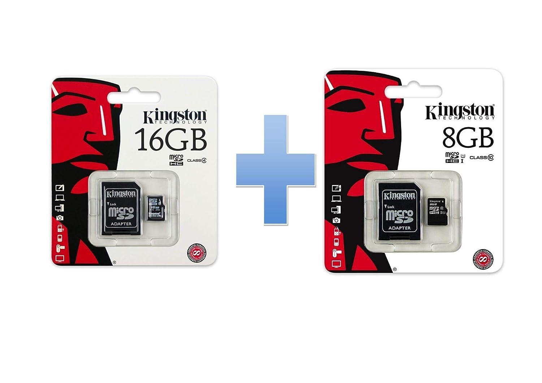 Kit 2 Mircro SD Kingston 1 Kingston SDC4/16GB, 1 Kingston SDC4/8GB ...