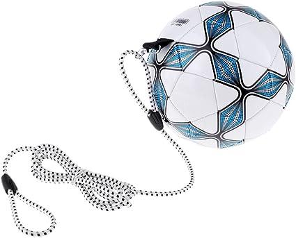 Baoblaze Premium Pelota PU con Cuerda para Entrenamiento de Fútbol ...