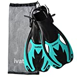 Kids Swim Fins - Diving Fins - Adjustable Speed Fins, Super-soft, for Diving,Snorkeling, Swimming & Watersports - Ivation