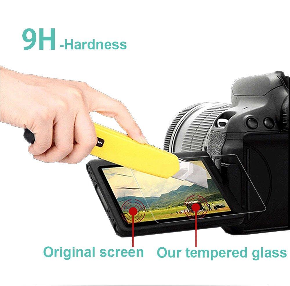 Exuun Optical 9H Hardness 0.3mm Ultra-Thin DSLR Screen Protector Glass for Pentax K-1// K-1 Mark II Nikon D5600 2-Pack Pentax K-1 Mark II//Nikon D5600 Tempered Glass Screen Protector Pentax K-1