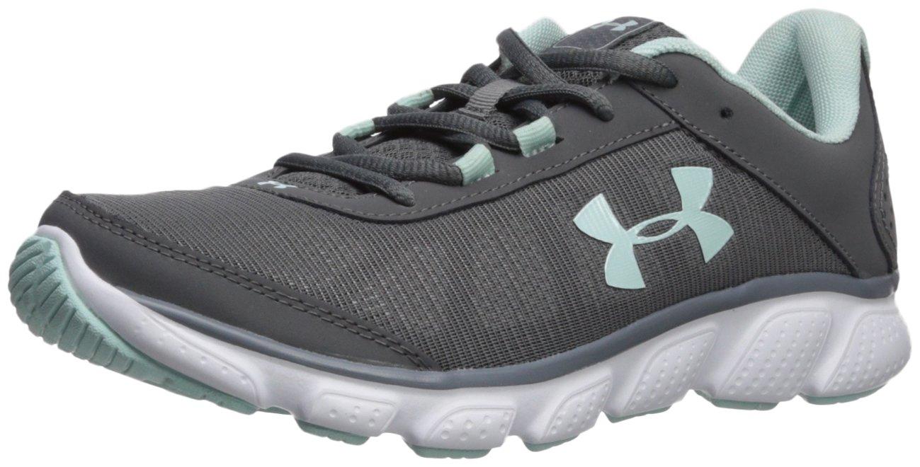 Under Armour Women's Micro G Assert 7 Sneaker, Black/White/White B071RZRN49 5.5 M US|Graphite (102)/White