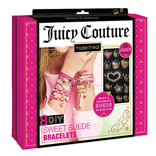 Make It Real - Juicy Couture Sweet Suede Bracelets. DIY Charm Bracelet Making Kit for Girls
