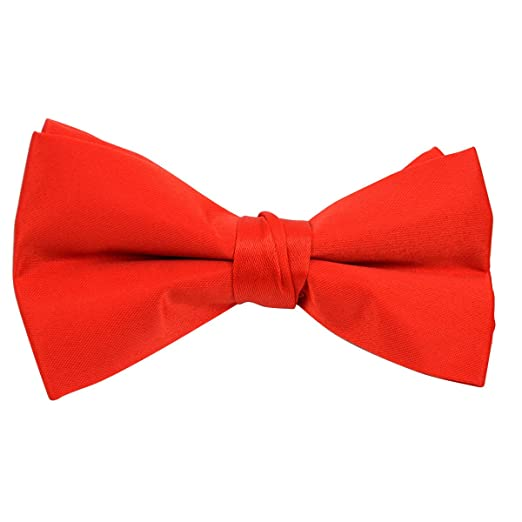 edef647d7370 Amazon.com: Kids Pre Tied Clip on Bow Tie-Red: Clothing