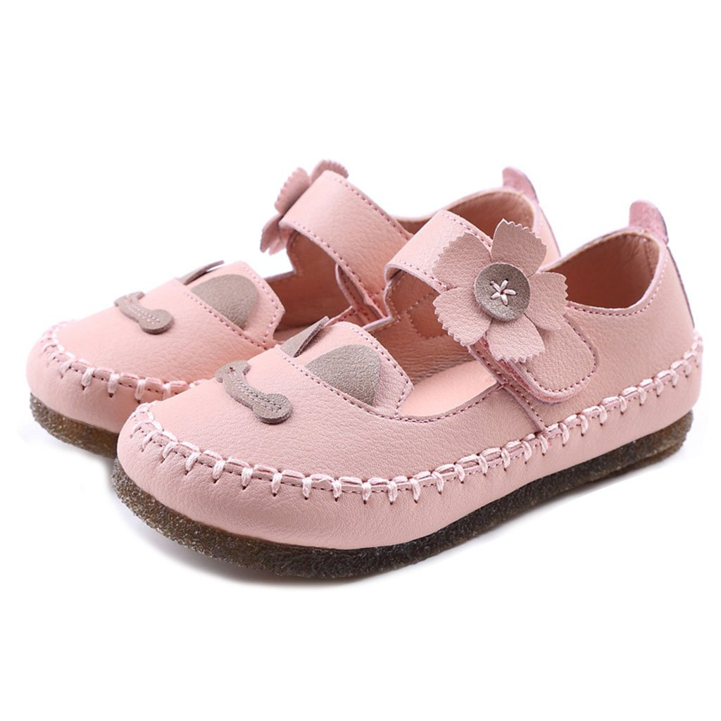 Girl's Mary Jane Dress Closed-Toe Sandals Summer Flower Anti-Slip Outdoor Sport Casual Flat Shoes