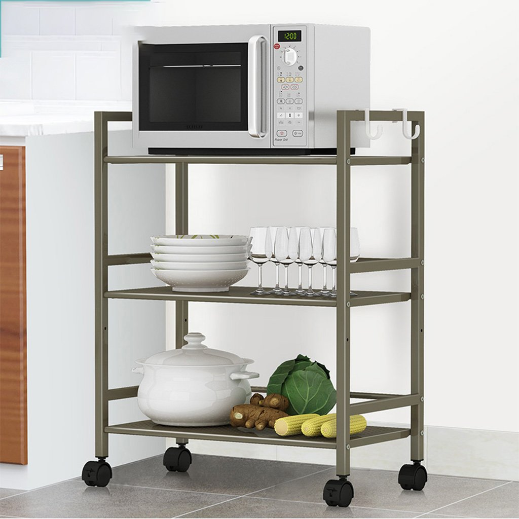 Hyun times Microwave Shelf Widening Storage Trolley Bathroom Storage Trolley Frame Living Room Storage Shelf