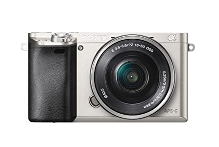 Sony Alpha 6000L Fotocamera Digitale Mirrorless Compatta con Obiettivo Intercambiabile 16-50 mm, Sensore APS-C CMOS Exmor da 24.3 MP, Mirino OLED Tru-Finder, Argento
