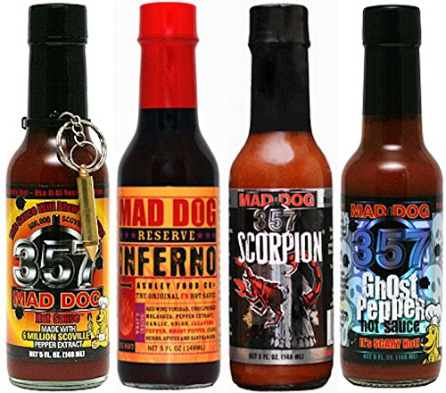 Mad Dog 357 EXTREME Four Bottle Hot Sauce Gift Set