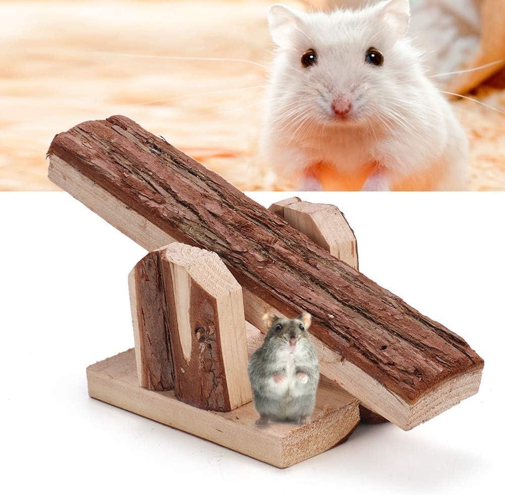 Rockyin Legno Naturale Animali Chew Piccoli Animali Coniglio Mice Rat Guinea Pig Hamster Altalena Cage Giocattoli