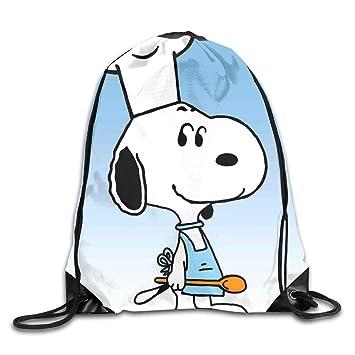 WSXEDC Snoopy Chef Mochila con cordón para Yoga, Deporte, Viajes: Amazon.es: Hogar