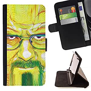 DEVIL CASE - FOR Apple Iphone 4 / 4S - Meth Cook Walter - Style PU Leather Case Wallet Flip Stand Flap Closure Cover