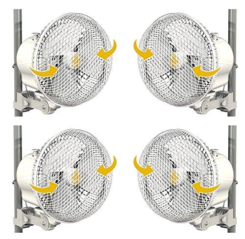 """61DroR87cJL - Secret Jardin Oscillating Monkey Fan 20W Fits 0.63"""" - 0.83"""" Inch Grow Tent Poles - 4 Pack"""