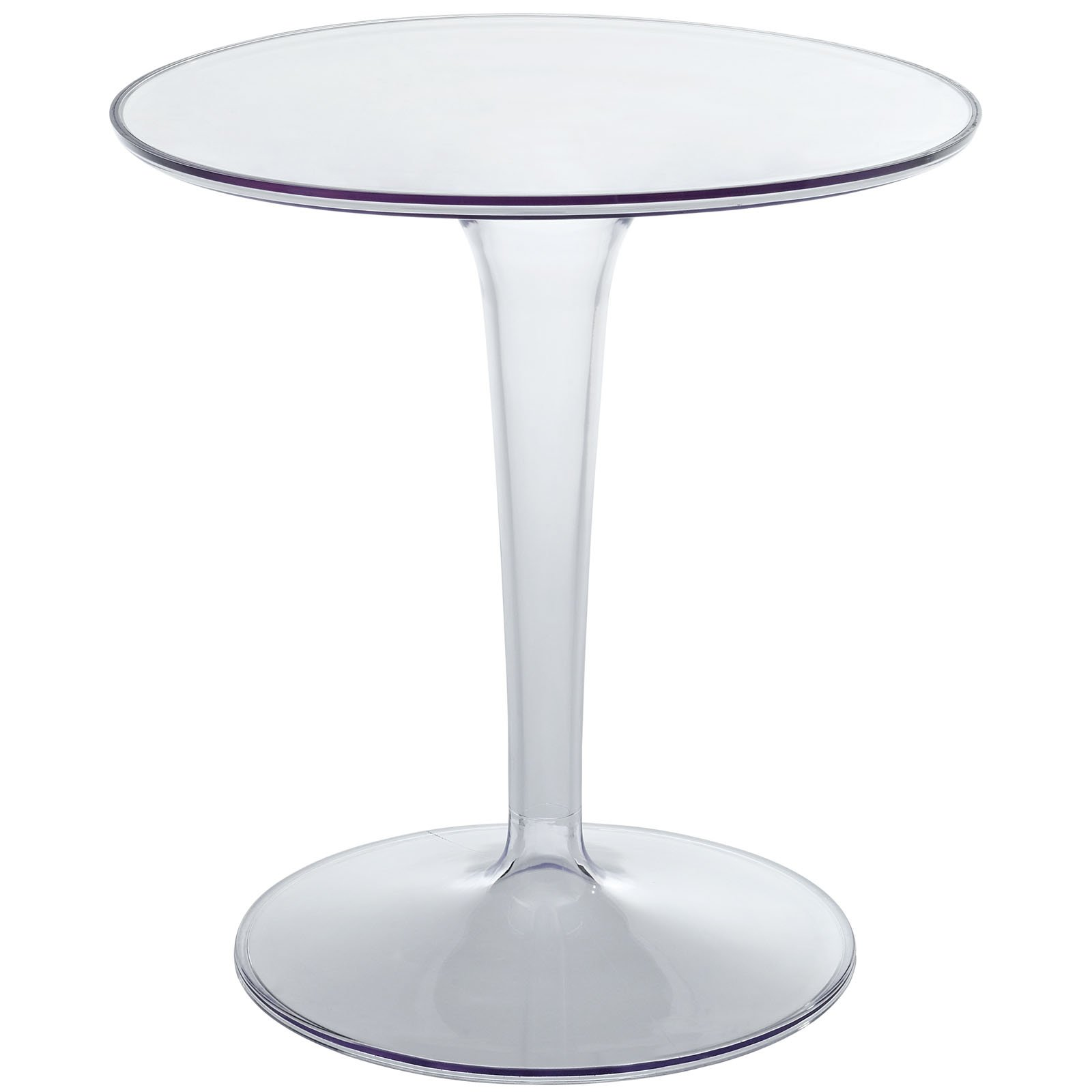 Modway Canvas Side Table in Clear