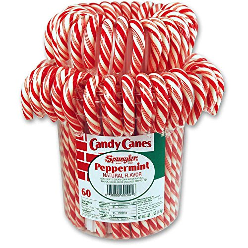 Spangler King Size Candy Canes, Peppermint, 60 Count Jar