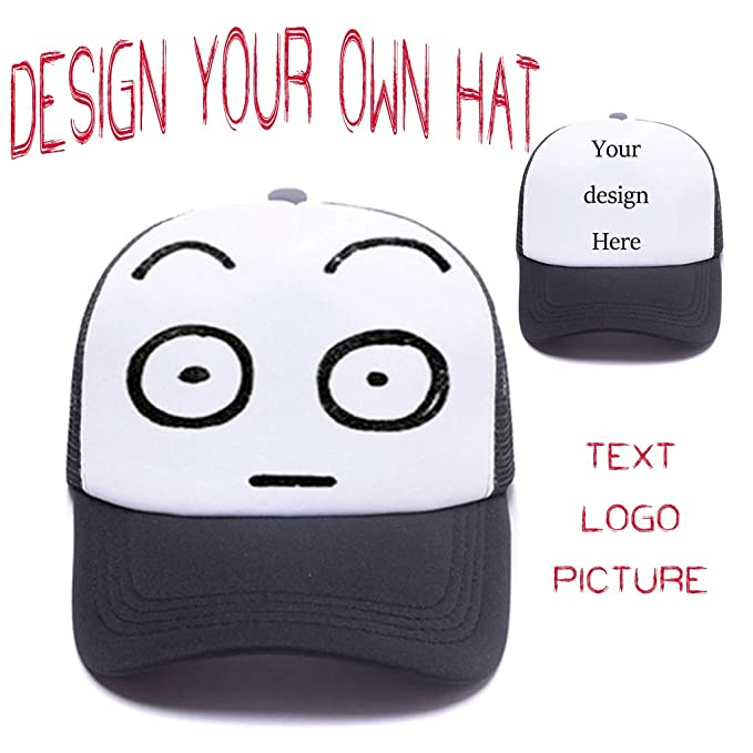 de2ccf277c6 Amazon.com  Custom Trucker Hat Graphic Print Design .Sun Protection Men  Women Adjustable Snapback Baseball Caps  Clothing