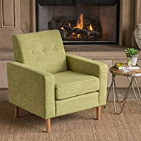 Christopher Knight Home 302535 Sawyer Arm Chair, Muted Green + Natural