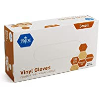 Medpride Vinyl Gloves| Small Box of 100| 4.3 mil Thick, Powder-Free, Non-Sterile, Heavy Duty Disposable Gloves…