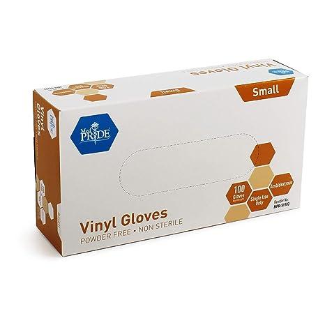 Amazon.com: Guantes de vinilo Medpride, caja de XXXX, 0.169 ...