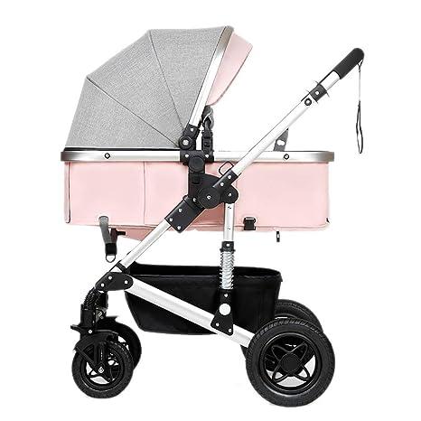 Guo@ Cochecito de bebé, plegable ligero Amortiguador Niños empujar carrocerías de bebé Marco de