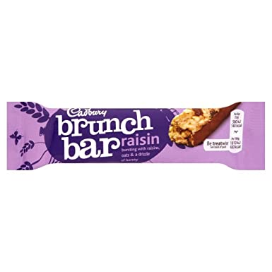 Cadbury Brunch Bar - Barrita de cereales con pasas - 32 g - Pack de 3