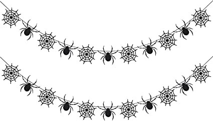 More color options available Glitter Spiderweb Painted Halloween Ornaments