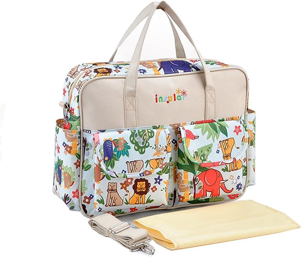 Yimidear Moda Diseñador Floral Impermeable Mochila Pañal de Bebé Bolso Cambiador Totalizador de Momia Bolsas de Hombro