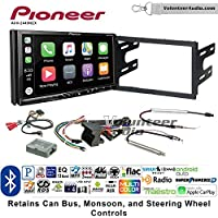 Volunteer Audio Pioneer AVH-2440NEX Double Din Radio Install Kit with Apple CarPlay, Android Auto and Bluetooth Fits 2002 Volkswagen Golf, 2002 Jetta, 2002 Passat with Amplified Systems