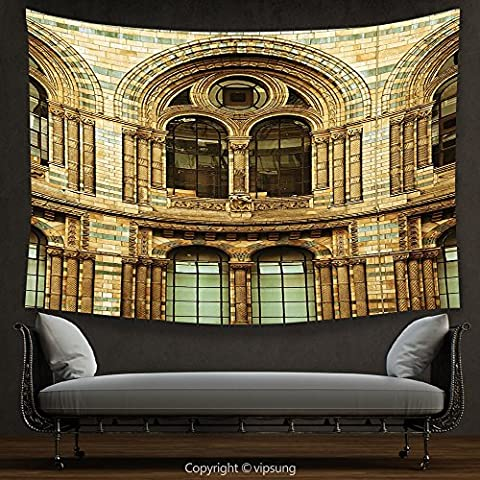 House Decor Tapestry Urban by Historical Architecture European City Building in London British Culture Art Photo Print Sepia Wall Hanging for Bedroom Living Room - Sepia Photo Print