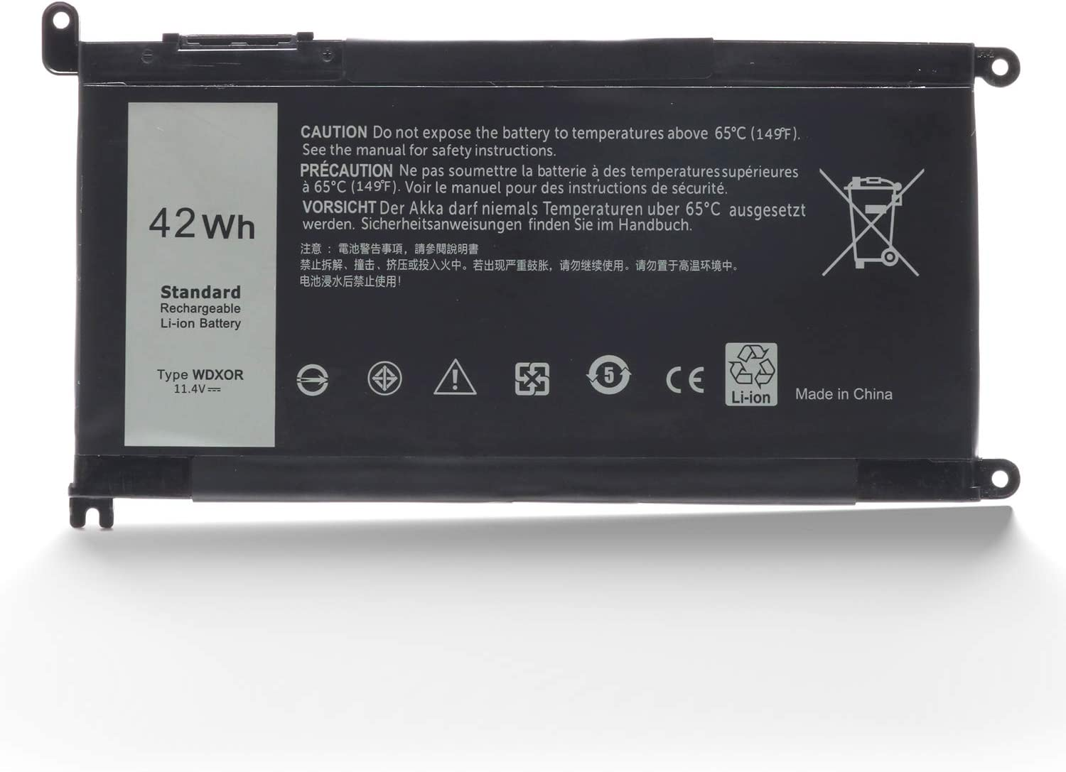 New WDXOR Replacement Battery for Dell Laptop Inspiron 15 3000 15 5000 13 7000 17 5000 Series 7378 5368 5567 5570 5578 7579 WDX0R P58F P58F001 P66F P69G P69G001 3CRH3 FC92N Y3F7Y 42Whr 4-Cell 11.4V