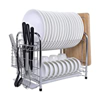 Deals on Micoe Stainless Steel Dish Drain Drying Rack w/Cutting Board