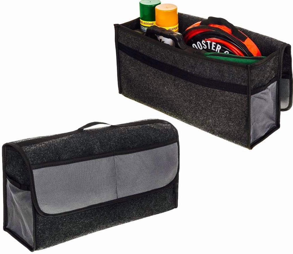 Sakura SS5233 Car Boot Organiser Storage Bag Large Grey Carpet Hook Loop Strip
