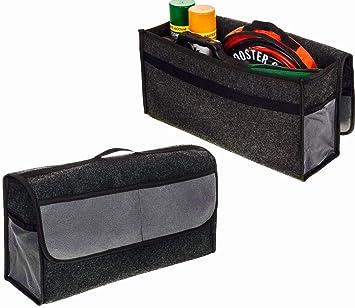 Grey Large Anti Slip Car Vehicle Trunk Boot Storage Organiser Case Tool Bag UK