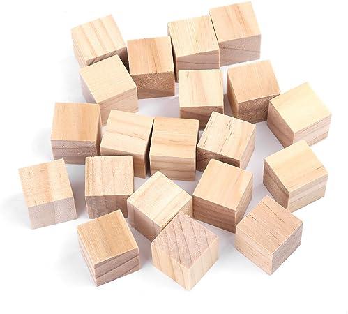 HEEPDD Cube Bois 10mm(50Pcs) Cubes en Bois carr/és naturels Non Finis Bricolage Fait Main Artisanat en Bois Artisanat Accessoires d/écoratifs pour Enfants Puzzle Making Toy projets
