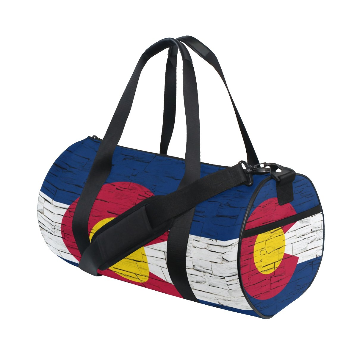 Distressed Colorado State Flag Travel Duffel Shoulder Bag ,Sports Gym Fitness Bags by CoolPrintAll