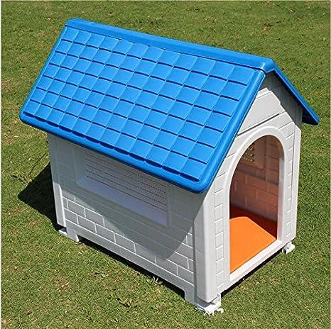 Caseta de plástico resistente a la intemperie para cachorros y perros, para interiores y exteriores, para mascotas: Amazon.es: Productos para mascotas