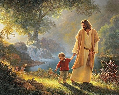 Jesus Walking With Child 8 x 10 * 8x10 GLOSSY Photo Picture]()