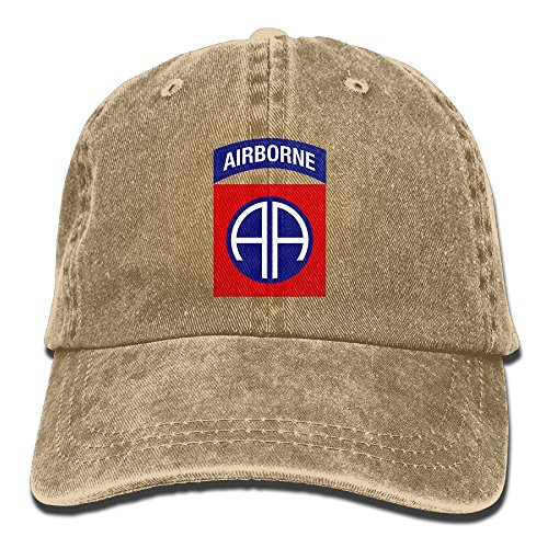 82nd Airborne Division Military LogoUnisex Washed Cotton Low Profile Adjustable Baseball Cap