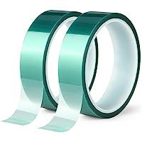 2 Roll Polyester Hoge Temperatuur Masking Tape, PET-Tape met Siliconen Lijm, Ideaal voor het schilderen, Poedercoating…